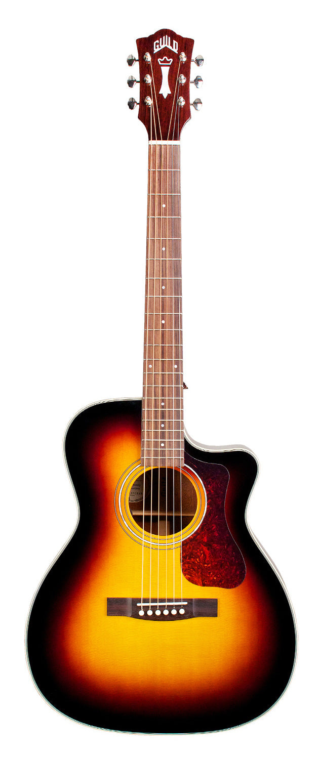 Guild OM-140CE Cutaway Acoustic-Electric Guitar, Tobacco Sunburst - Jakes Main Street Music
