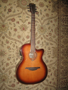 "LAG ""Tramontane"" Series T100ACE - Acoustic/Electric Guitar - Sunburst - Jakes Main Street Music"
