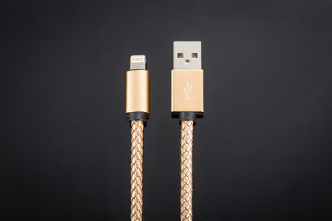 Braided USB Cable // Gold