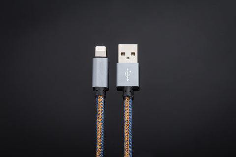 Denim USB Cable // Blue