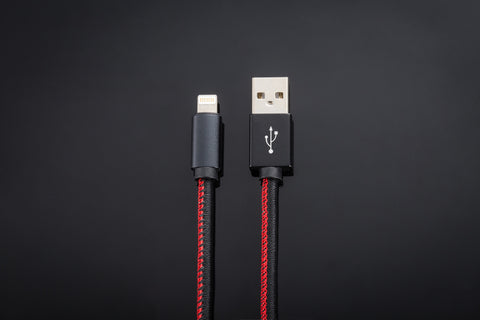 Luxe USB Charger // Black & Red