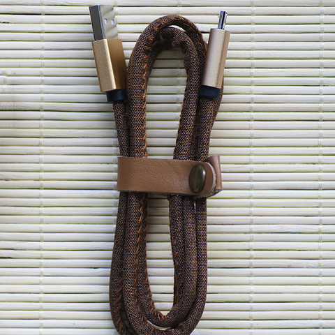 Denim USB Cable // Brown