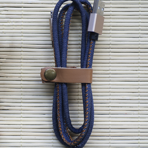 Denim USB Cable // Navy