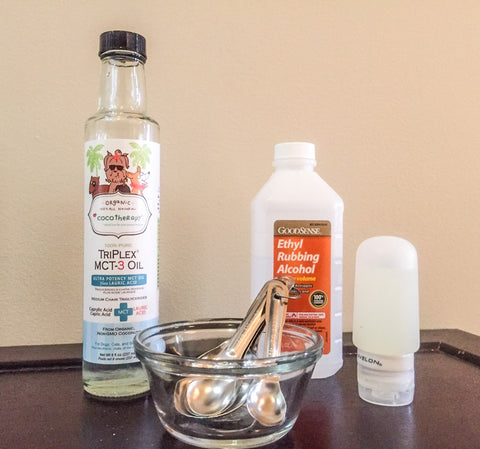 Coconut oil sanitizer