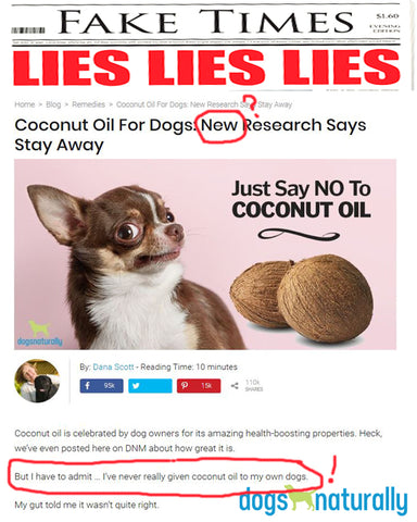 Fake news from Dogs Naturally