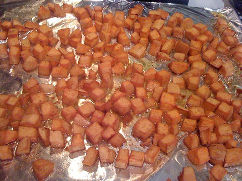 CocoTherapy Coconut Oil Roasted Sweet Potatoes
