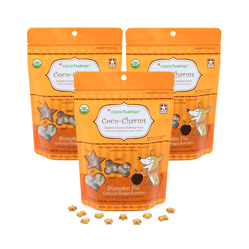 Coco-Charms Training Treats Pumpkin Pie - Organic Training Treat for dogs