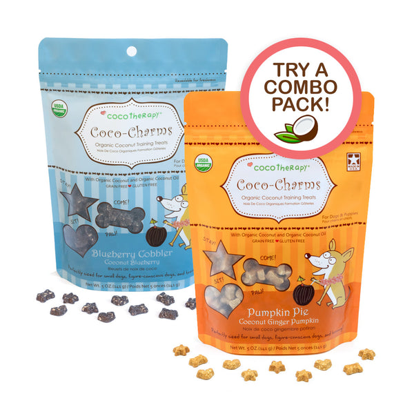 Coco-Charms Training Treats Double Delight - Organic Training Treats for dogs