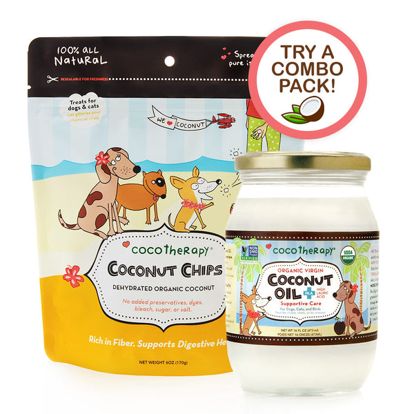Coconut Lovers Health Pack - Organic Coconut Chips & Virgin Coconut Oil (16 oz)