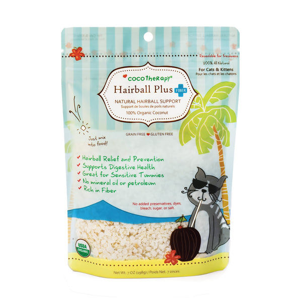 coconut cat hairball remedy | coconut good for cats