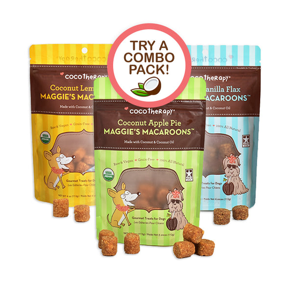 Maggie's Macaroons Triple Treat - Organic Coconut Treats for dogs