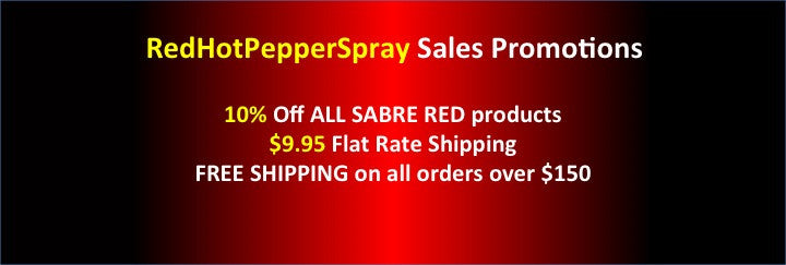 Red Hot Pepper Spray Promotions