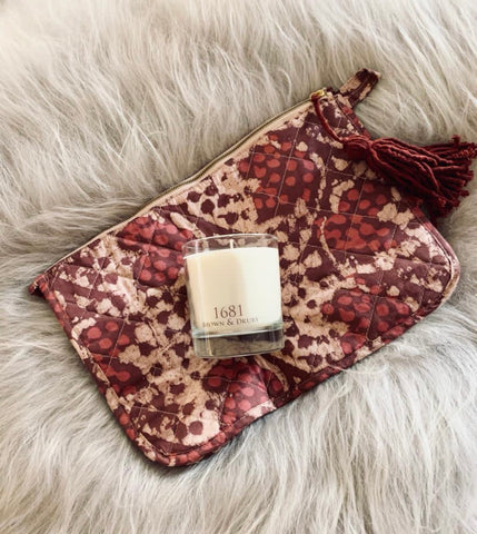 Travel Bag & 1681 Pomegranate Candle Set