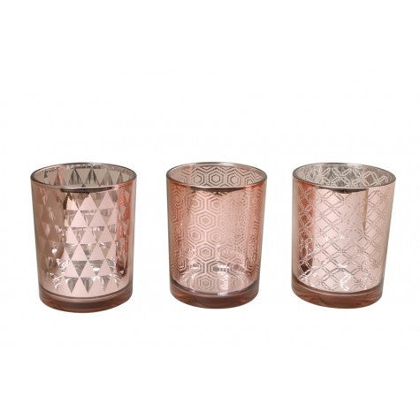 Single Copper Tea Light Holder