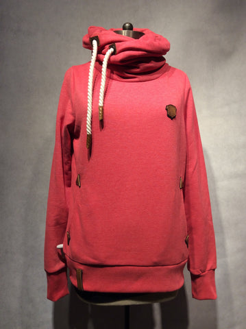 "Naketano Sweatshirt ""Darth VII"" - XS / Cherry Melange - 1"