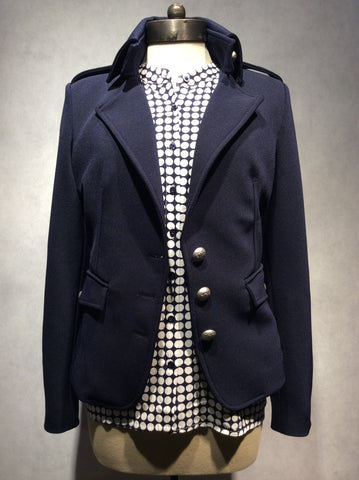 "RINASCIMENTO Blazer ""Giaccia Jacket"" Navy Blue (Made in Italy) - S / Navy Blue - 1"