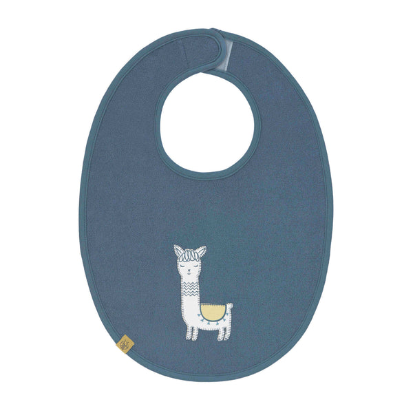 Lassig - 4babies - Waterproof Medium Bibs - Glama Lama Blue