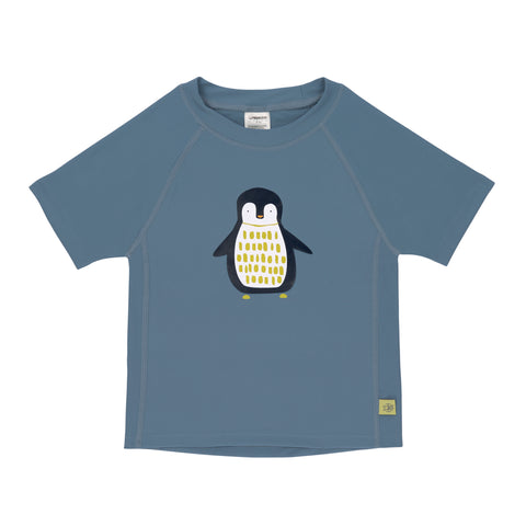 Lassig Swimwear 2019 - Boys - Short Sleeve Rashguard - Penguin Niagara Blue