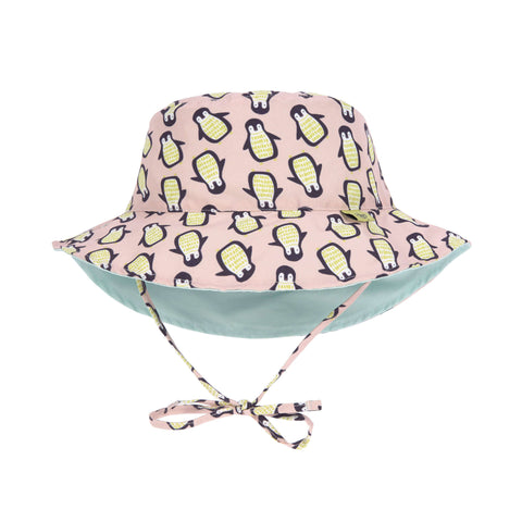 Lassig Swimwear 2019 - Girls - Reversible Sun Protection Hat - Penguin Peach