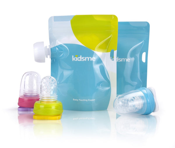 Kidsme - Reusable Food Pouch with Adaptor Set Lavender