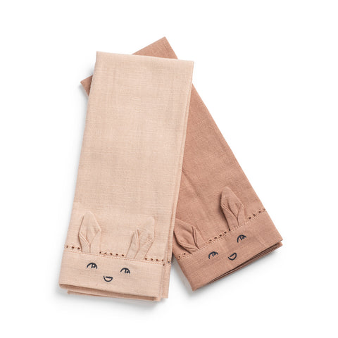 Elodie Details - Baby Napkins 2 pcs - Faded Rose / Burned Clay