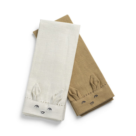 Elodie Details - Baby Napkins 2 pcs - Lily White / Warm sand
