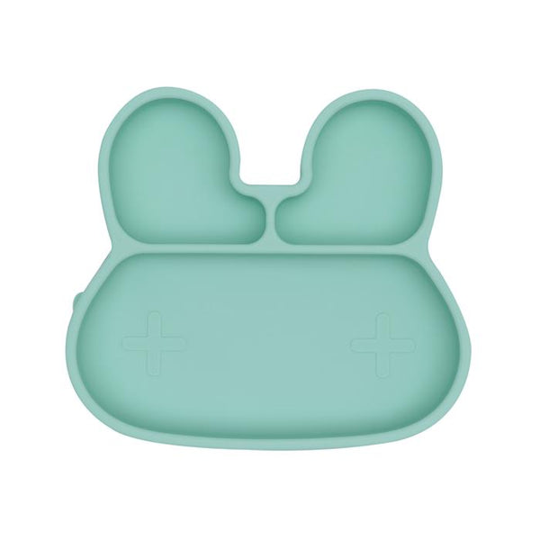We Might Be Tiny - Bunny Stickie Plate - Minty Green