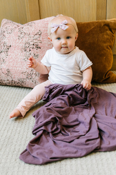 Copper Pearl - Plum Swaddle Blanket