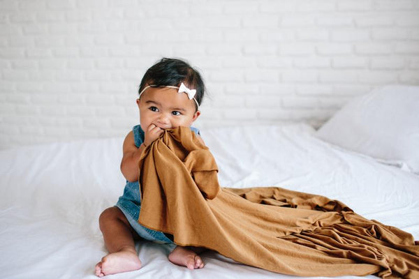 Copper Pearl - Camel Swaddle Blanket