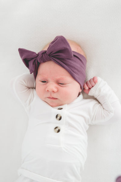 Copper Pearl - Plum Knit Headband