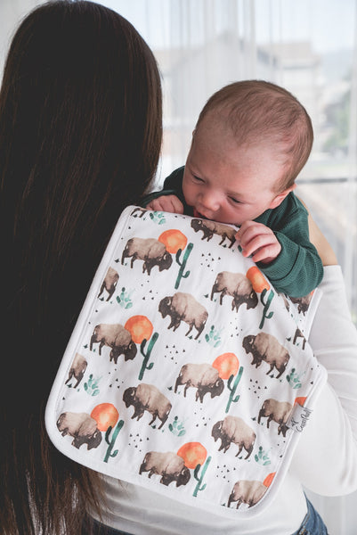 Copper Pearl - Bison Burp Cloth