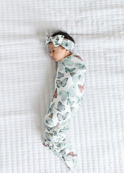 Copper Pearl - Dot Swaddle Blanket