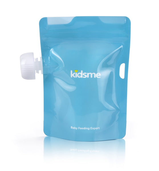 Kidsme - Reusable Food Pouch with Adaptor Set Lime