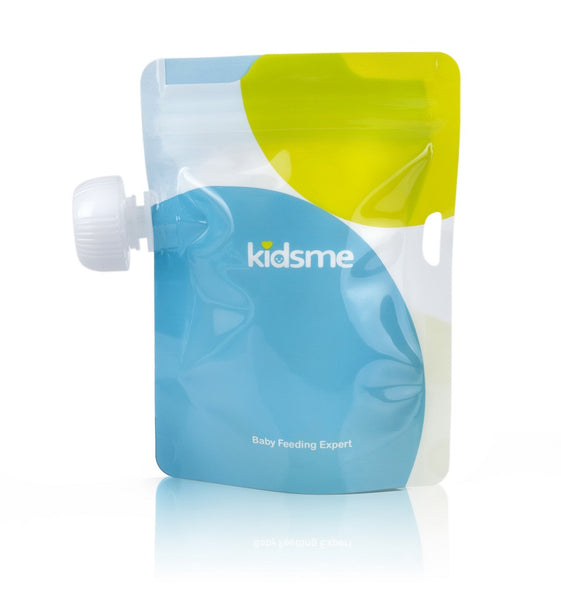 Kidsme - Reusable Food Pouch with Adaptor Set Sky