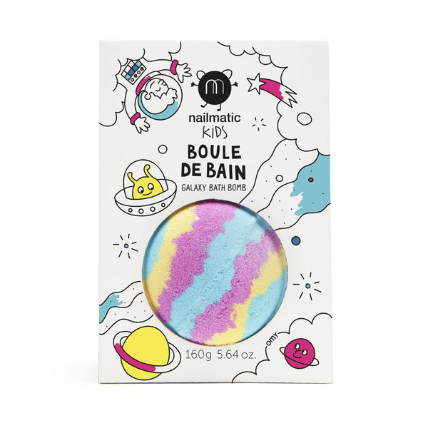 Nailmatic- Colouring and soothing bath bomb for kids - Galaxy