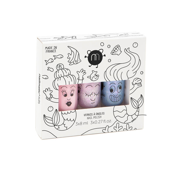 Nailmatic- Set of 3 nail polishes – Mermaid