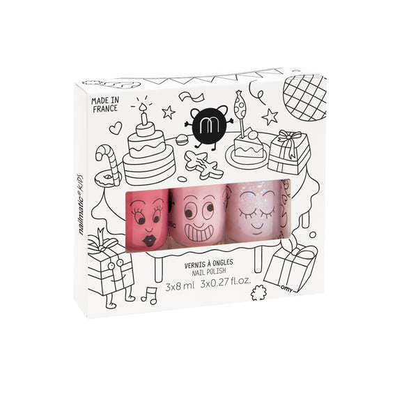 Nailmatic- Set of 3 nail polishes – Party