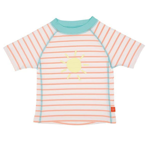 Lassig Swimwear 2018 - Girls - Short Sleeve Rashguard Sailor Peach