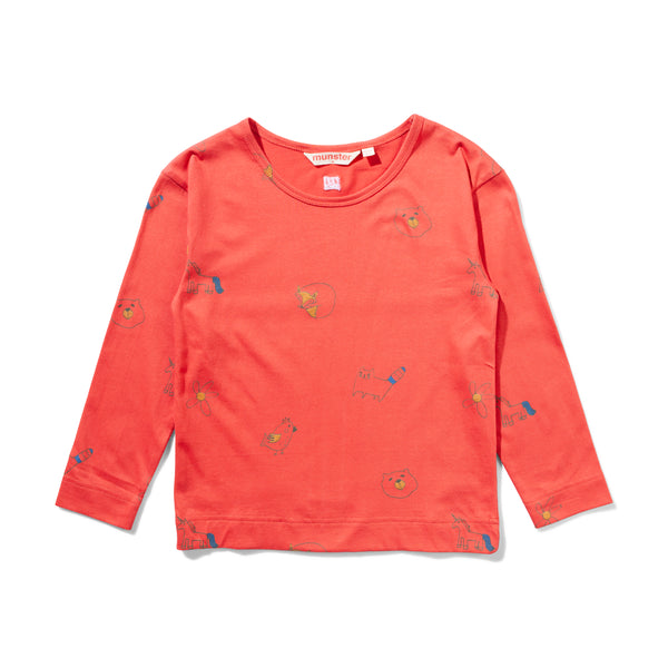 Munsterkids FW31-Meow Meow Red