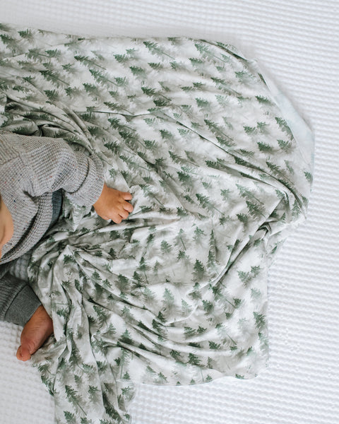 Copper Pearl - Evergreen Swaddle Blanket