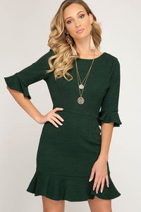 Ruffled Knit Dress