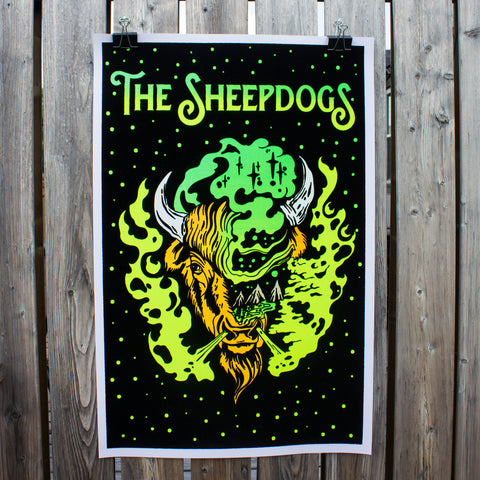 Buffalo Blacklight Poster