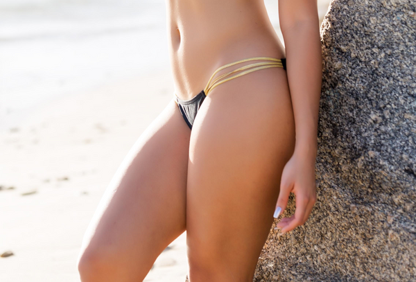 A South Beach Gold Bikini , Bikini Set - Miami Bikini Shop, Miami Bikini Shop  - 3