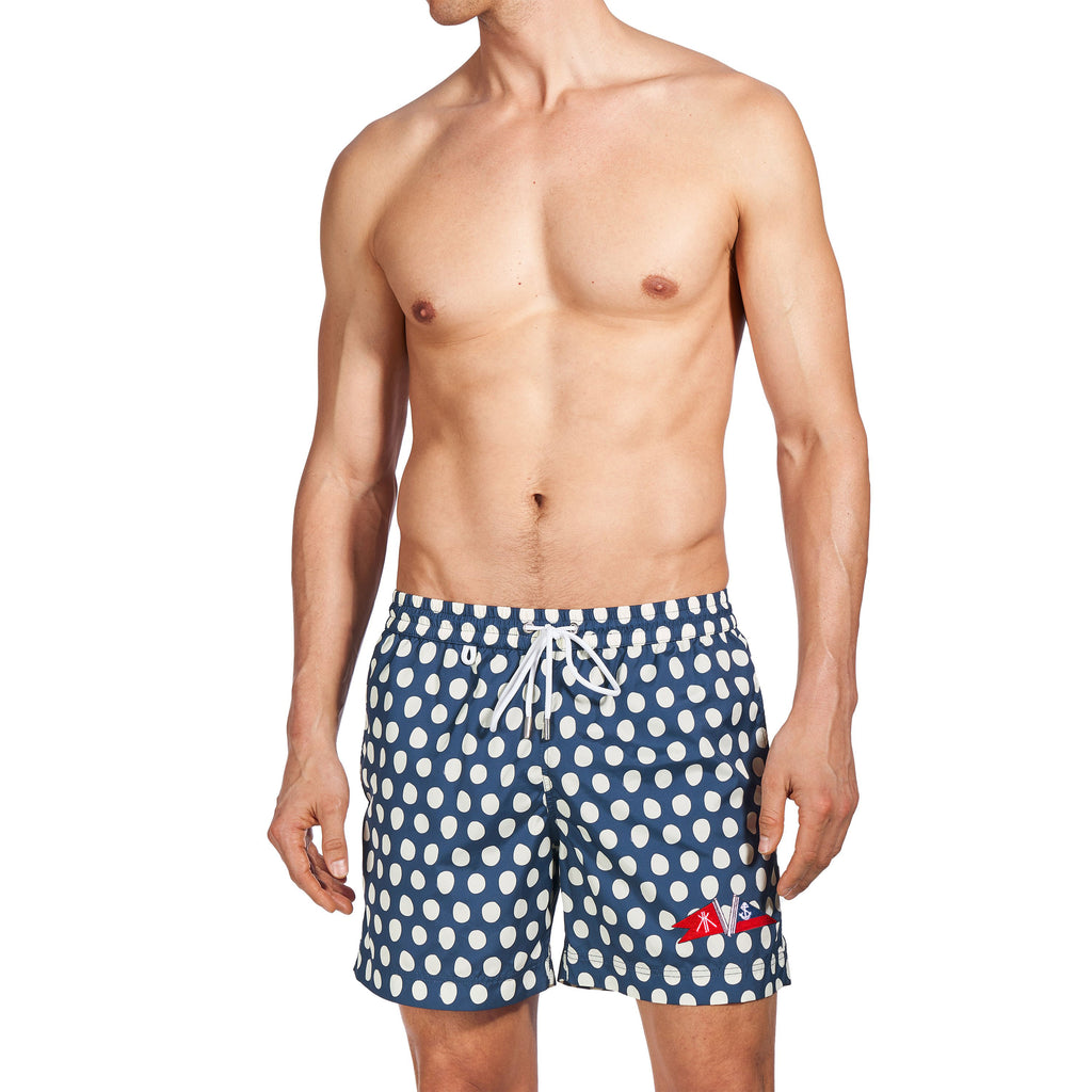 EMERSON II - SEACRAFT NAVY & CREAM POLKA DOT PRINT