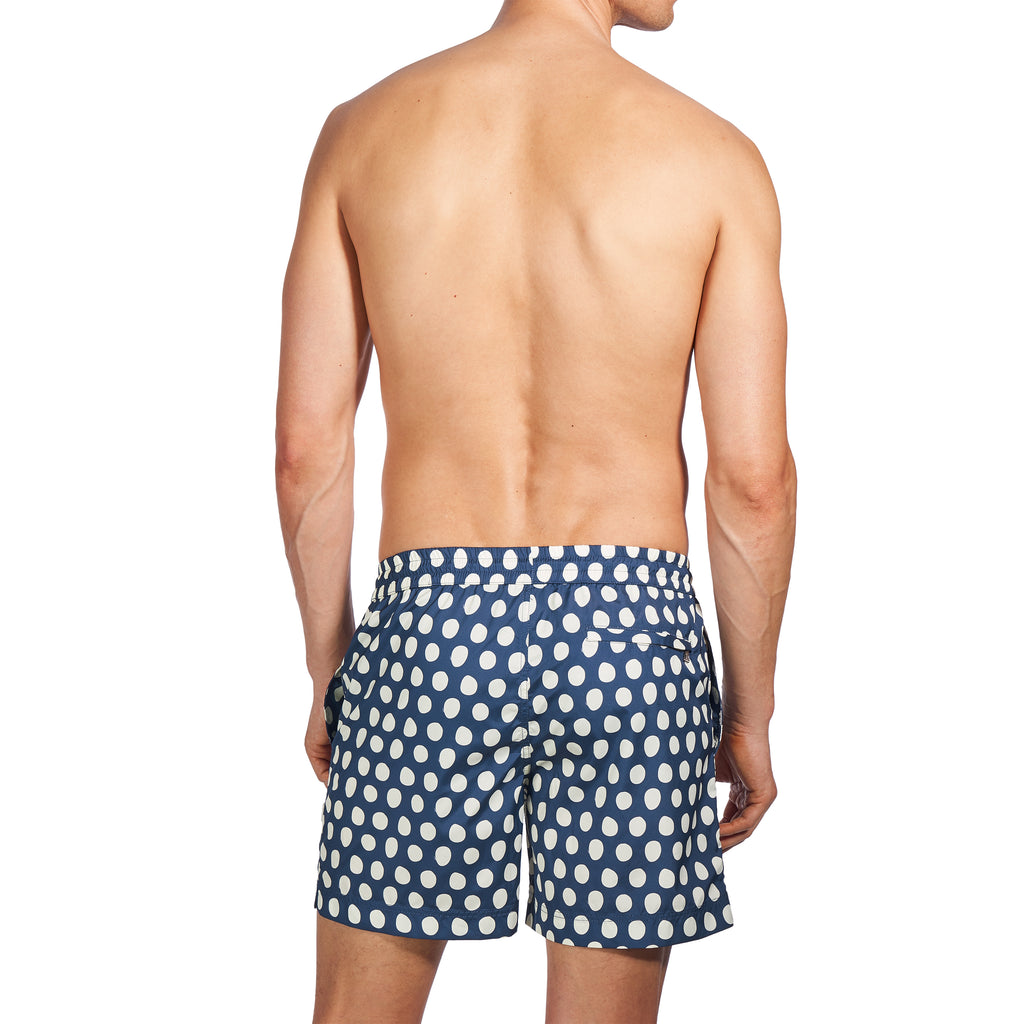 EMERSON II - NAVY & CREAM POLKA DOT PRINT