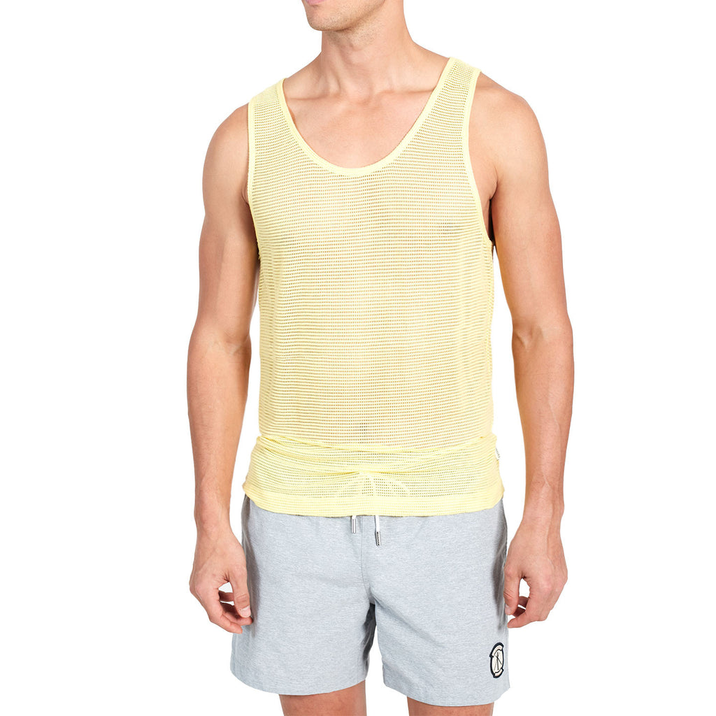 Erik Mesh Tank - Summerfield Yellow