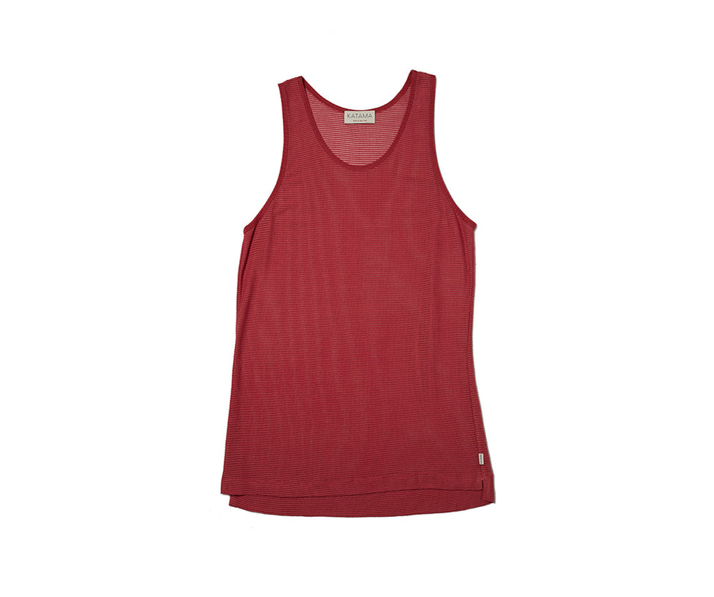 Erik Mesh Tank - Vineyard Red