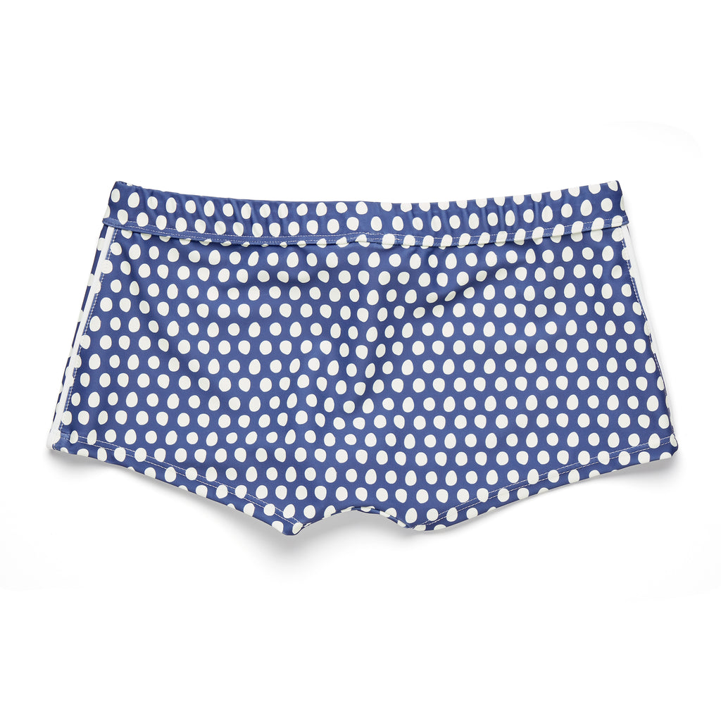 PAUL II -NAVY & CREAM POLKA DOT PRINT