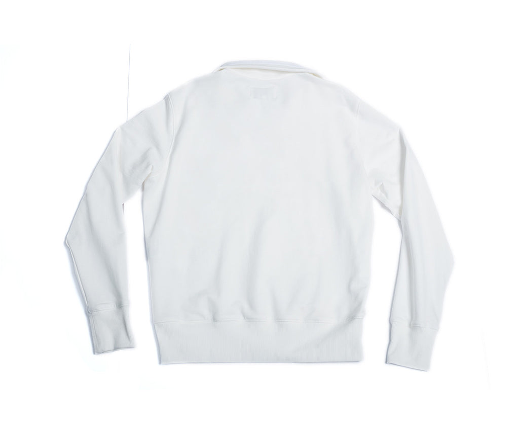 Robert Half-Zip - White