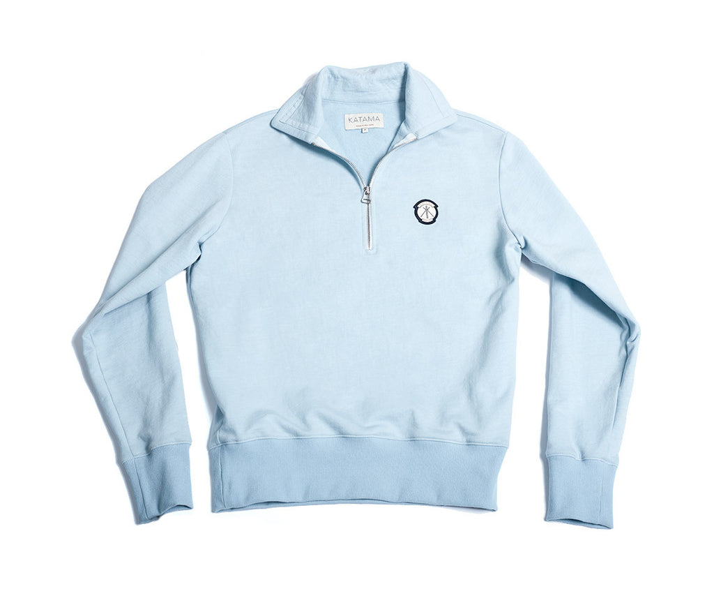 Robert Half-Zip - Wyeth Blue